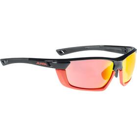 Alpina Tri-Scray Multiframe Sykkelbriller rød/Svart
